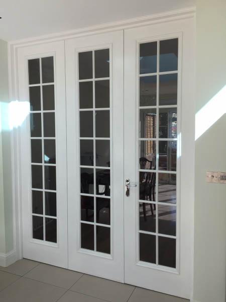 Interior double glass door