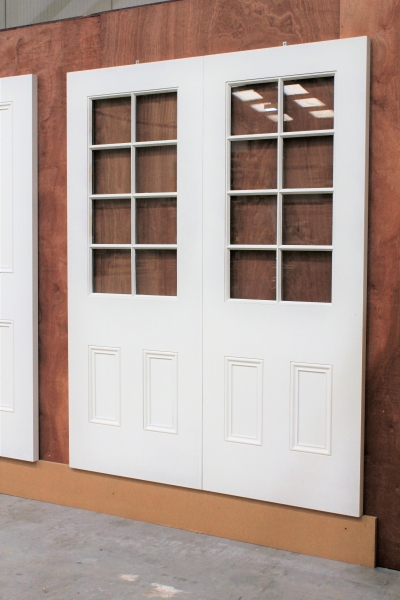 Internal Double Wood door with glass