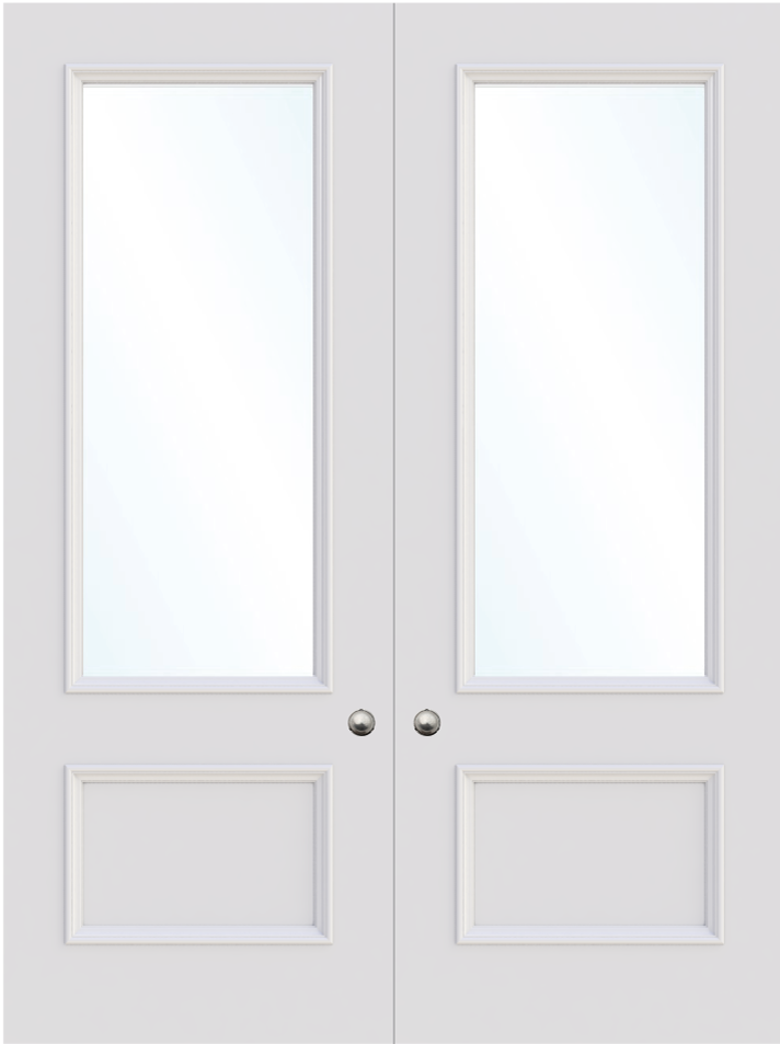 The Leeds Double Glass Door