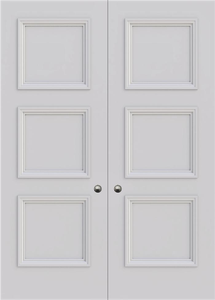 Newburry 3 Panel Double Fire Door