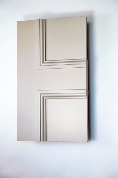 Detail of The Classic Balmoral 4 Panel internal made to measure door primed and ready