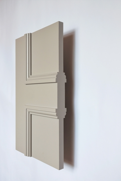 Side view of The Classic Balmoral 4 Panel internal made to measure door primed and re