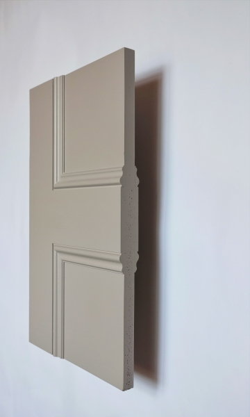 Cambridge 1 panel interior door from Trunk Doors, Bespoke glazed fire resistant custo