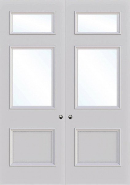 Croydon 3 panel interior door from Trunk Doors, Bespoke fire resistant custom doors a