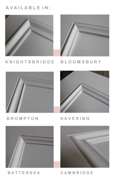 Leeds Glass Fire Door Moulding Options