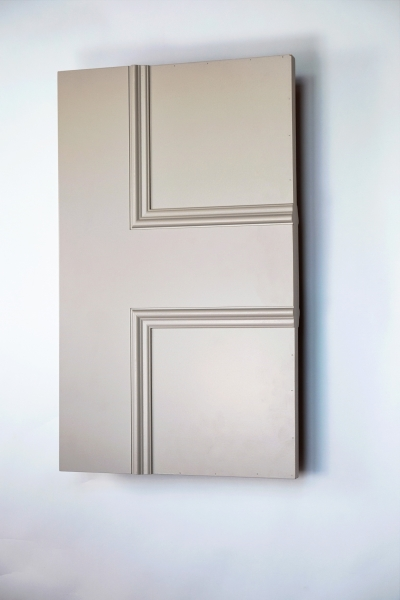 Semi-front view of the Classic Havering 4 panel made to measure internal door
