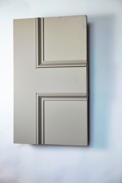 Knightsbridge Allegro 2 panel interior door from Trunk Doors and bespoke glazed fire