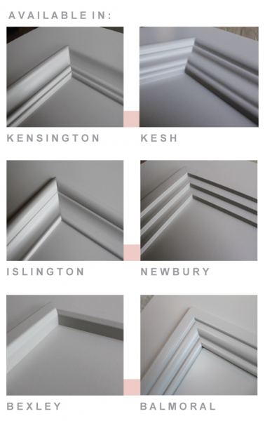 Belfast Glass Door Moulding Options