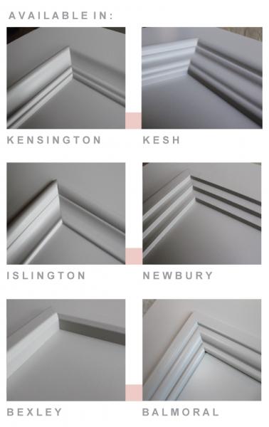 Leeds Glass Fire Door Moulding Options