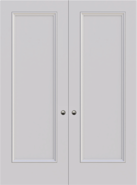 Knightsbridge Single Panel Double Fire Door