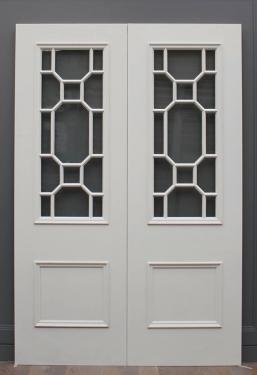 Georgian Pattern Double Glass Doors