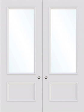 Leeds Double Glass Fire Door