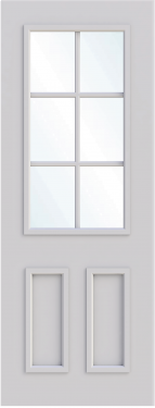 Oxford Single Glass Fire Door