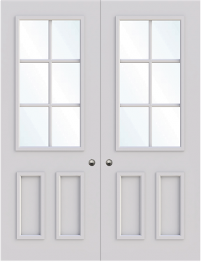 Oxford Double Glass Fire Door