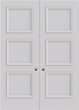 Balmoral 3 Panel Double Fire Door