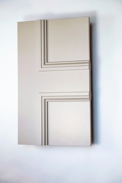 Detail of The FD30 Classic Balmoral 4 panel internal made to measure fire door
