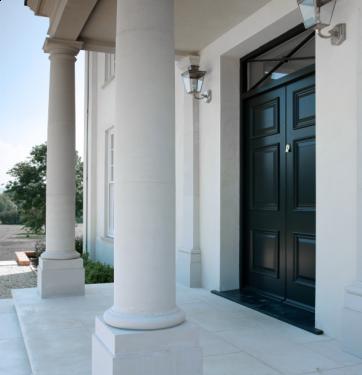 Exterior 3 panel front door and double door