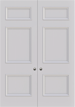 FD30 Cambridge 3 panel double door