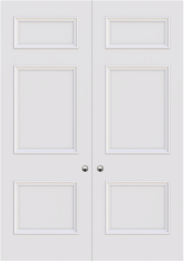 Cambridge 3 Panel Double Door