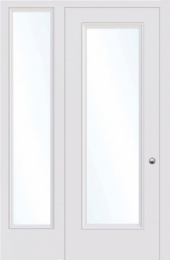 GLAZED INTERNAL DOOR WITH SIDELIGHTS