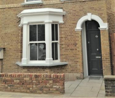 Victorian style front door
