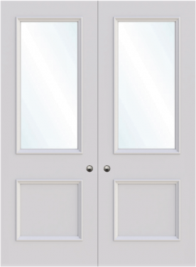 Birmingham Double Glass Fire Door